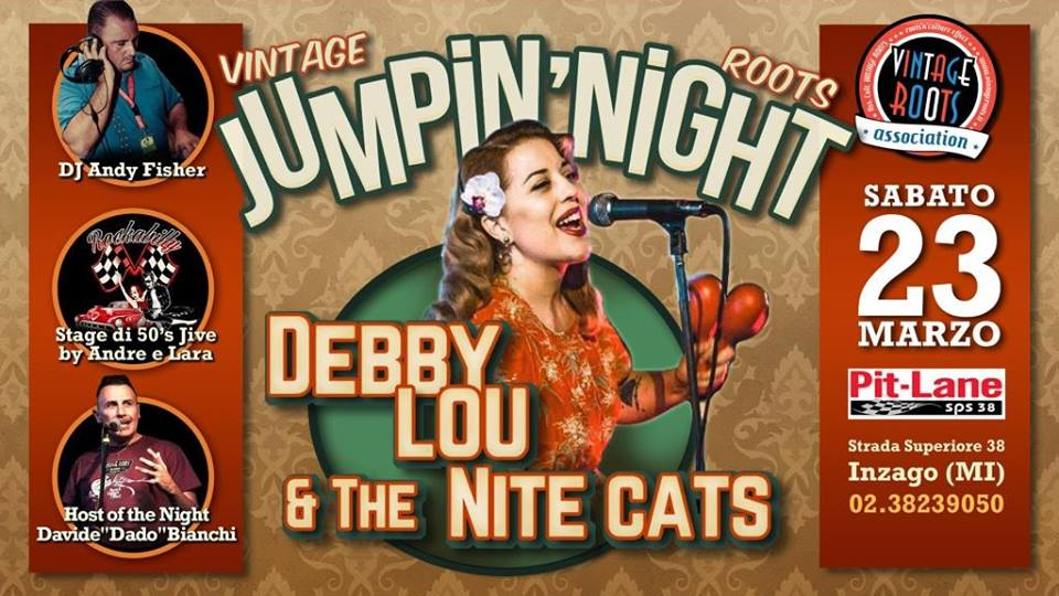 Vintage Roots Jumpin' Night ♫ LIVE Debby Lou & The Nite Cats