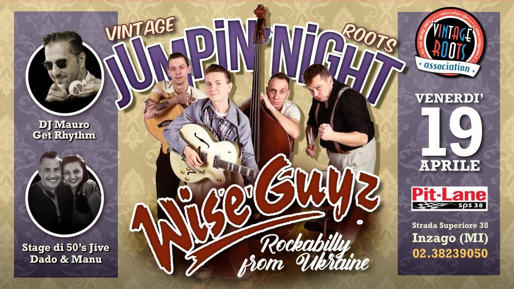 Vintage Roots Jumpin' Night ♫ Live the WiseGuyz (rockabilly Ukraine)