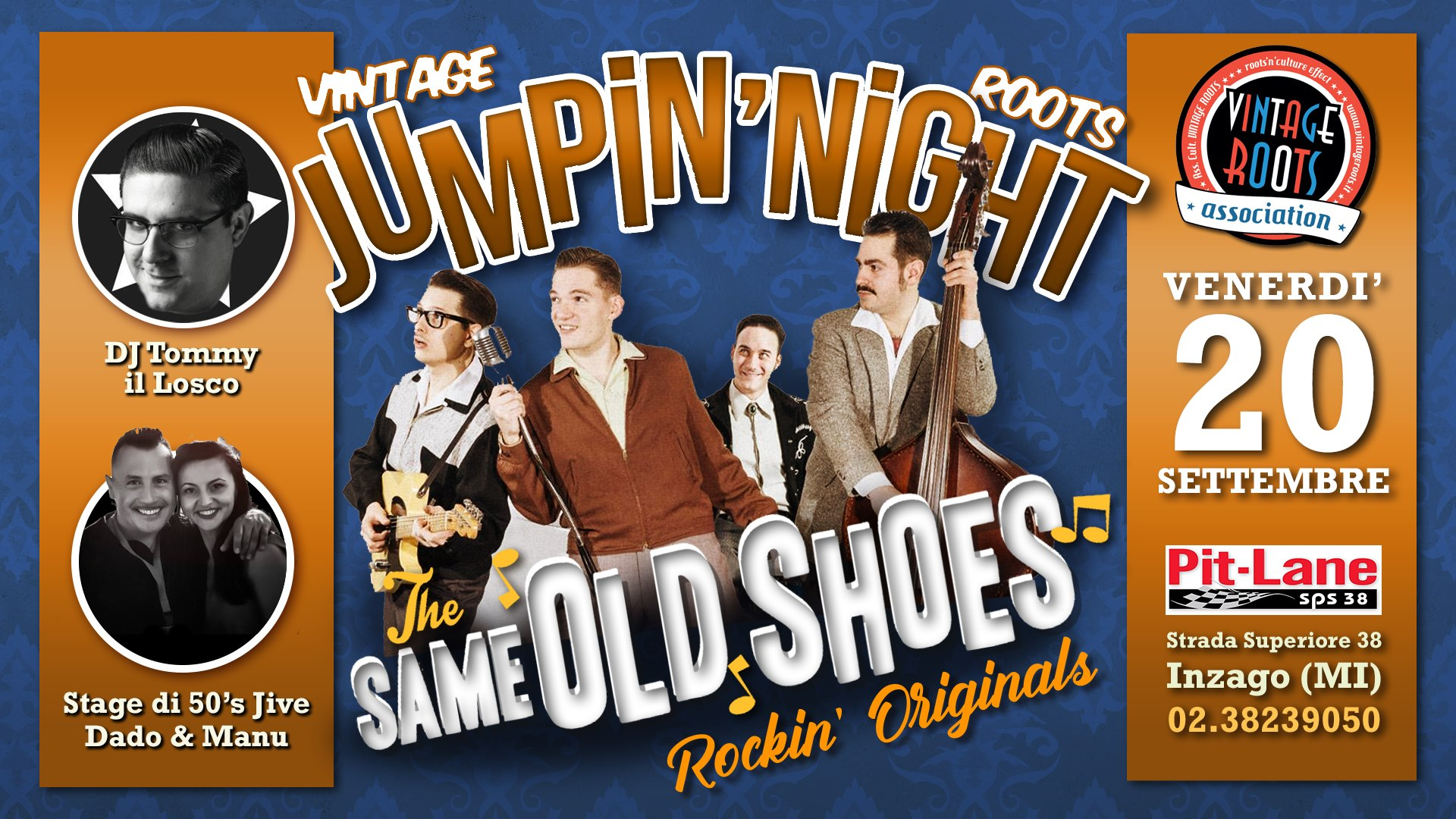 Vintage Roots Jumpin' Night ♫ LIVE The Same Old Shoes